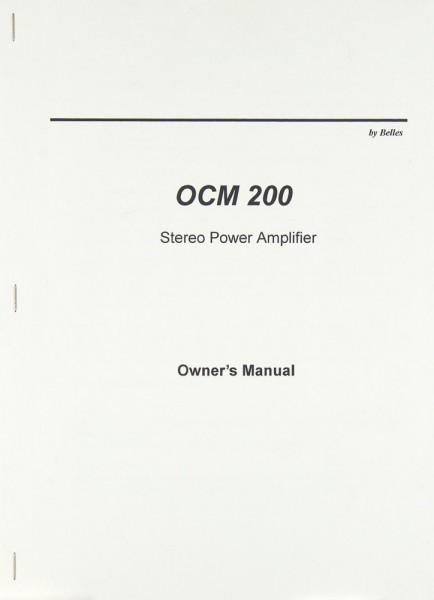OCM 200 Bedienungsanleitung