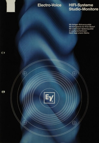 Electro-Voice / Gulton HiFi-Systeme / Studio-Minitore Prospekt / Katalog