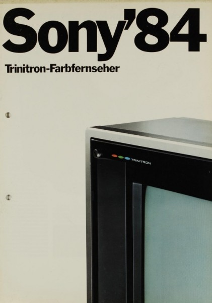 Sony Sony ´84 - Trinitron-Farbfernseher Prospekt / Katalog
