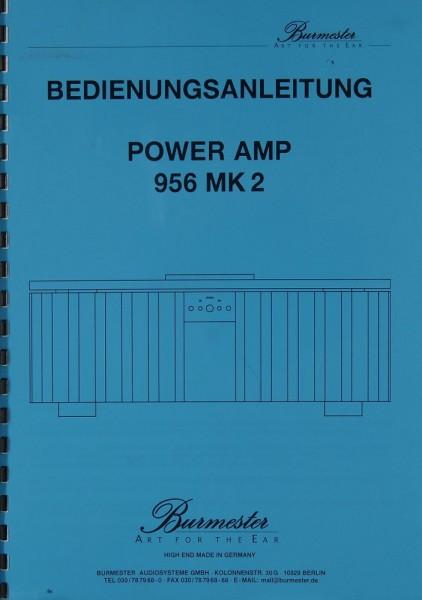 Burmester 956 MK 2 Bedienungsanleitung