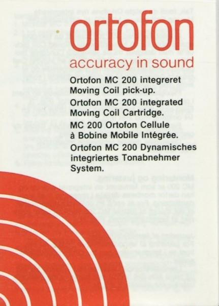 Ortofon MC 200 Bedienungsanleitung