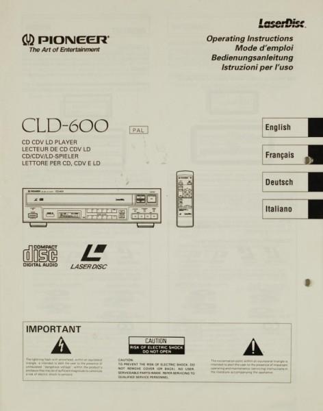 Pioneer CLD-600 Bedienungsanleitung