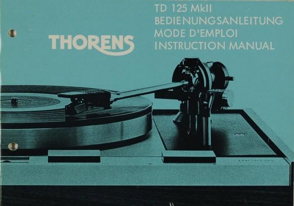 Thorens TD 125 MK II Bedienungsanleitung