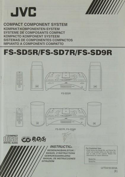 JVC FS-SD 5 R / FS-SD 7 R / FS-SD 9 R Bedienungsanleitung