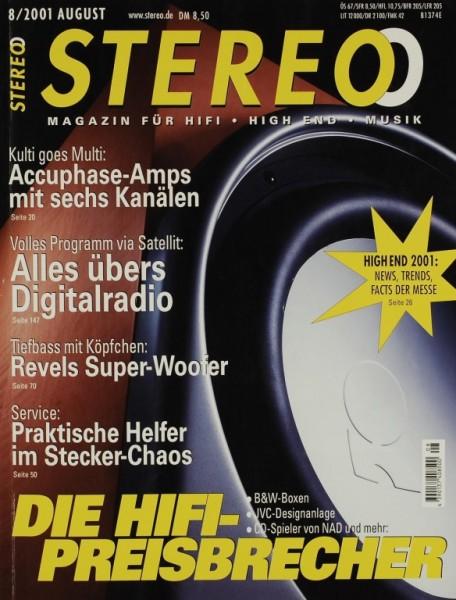 Stereo 8/2001 Zeitschrift