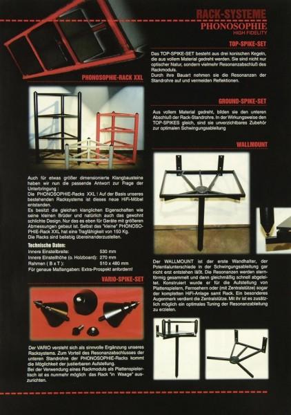 Phonosophie Rack-Systeme Prospekt / Katalog