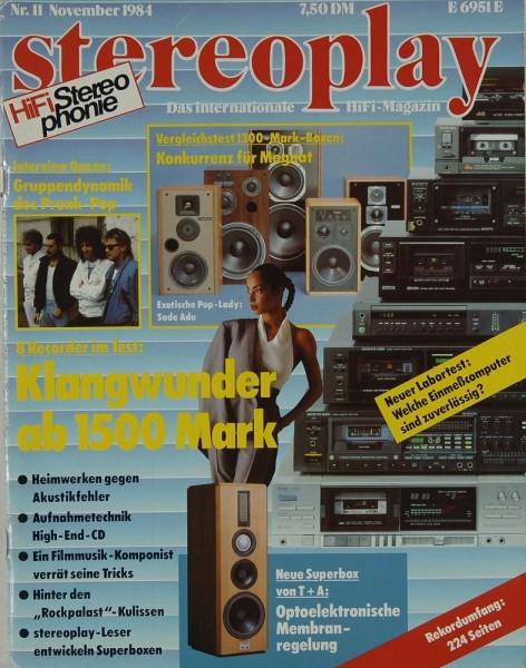 Stereoplay 11/1984 Zeitschrift