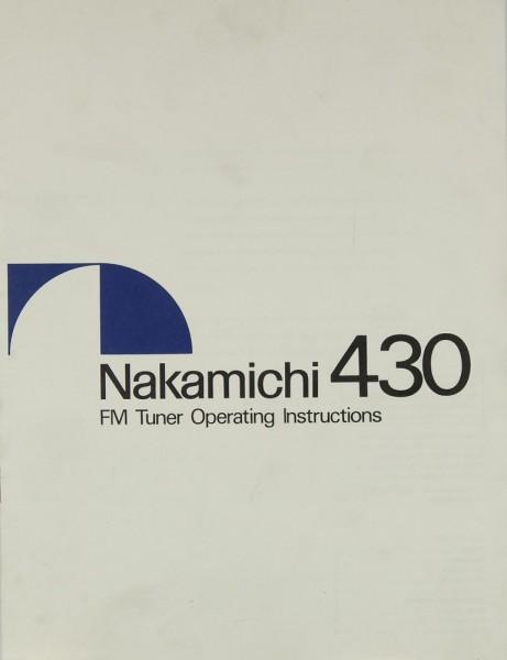 Nakamichi 430 Bedienungsanleitung