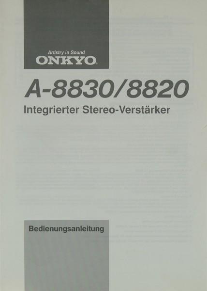 Onkyo A-8830 / 8820 Bedienungsanleitung