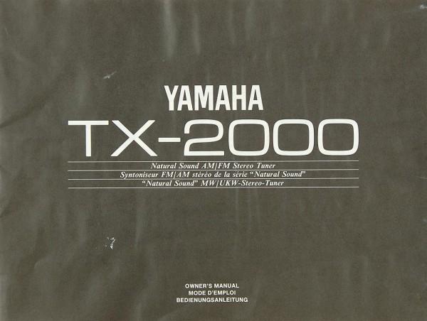 Yamaha TX-2000 Bedienungsanleitung