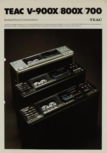 Teac V-900X / 800X / 700 Prospekt / Katalog