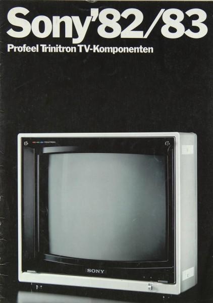 Sony Gesamtkatalog Profil Trinitron 1982/1983 Prospekt / Katalog