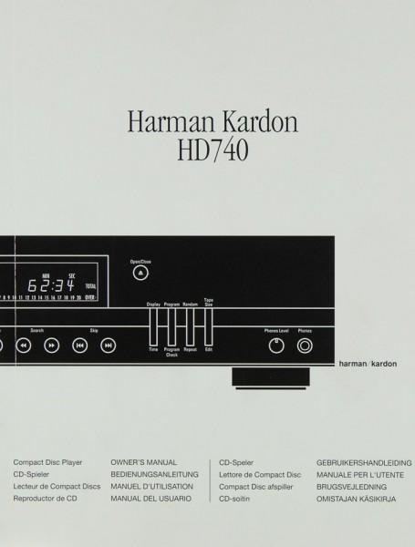 Harman / Kardon HD 740 Bedienungsanleitung