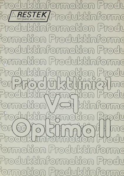 Restek V-1 / Optima II Prospekt / Katalog