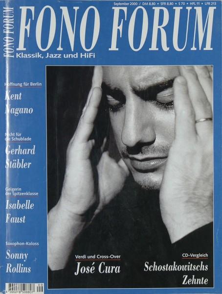 Fono Forum 9/2000 Zeitschrift