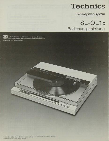 Technics SL-QL 15 Bedienungsanleitung