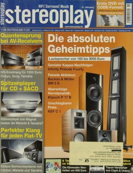 Stereoplay 11/2008 Zeitschrift
