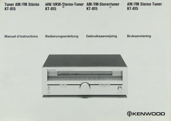 Kenwood KT-815 Bedienungsanleitung