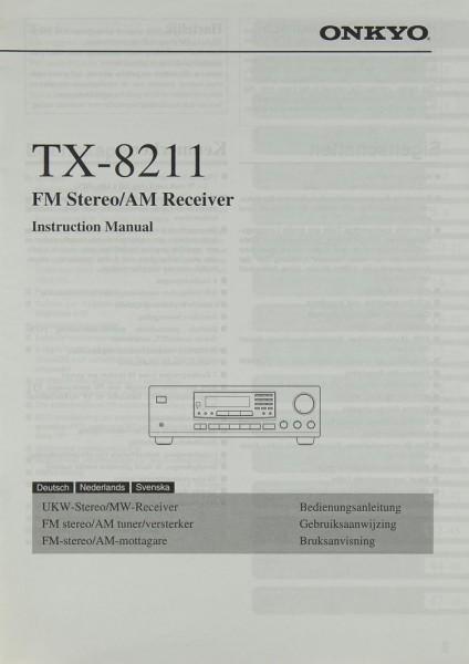 Onkyo TX-8211 Bedienungsanleitung