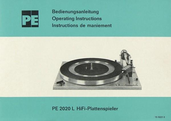 PE 2020 L Bedienungsanleitung
