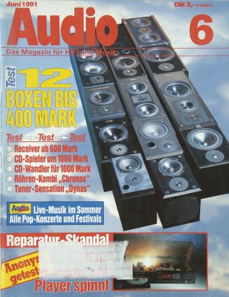 Audio 6/1991 Zeitschrift