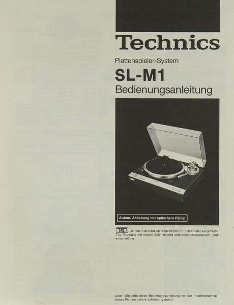 Technics SL-M 1 Bedienungsanleitung
