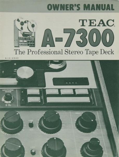 Teac A-7300 Bedienungsanleitung