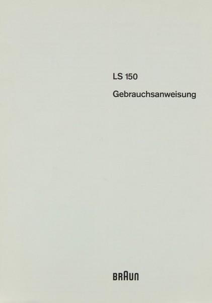 Braun LS 150 Bedienungsanleitung