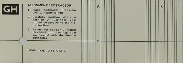 GH Alignment Protractor Justageschablone