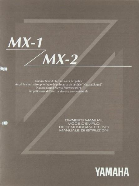 Yamaha MX-1 / MX-2 Bedienungsanleitung