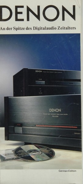 Denon Lieferübersicht 1988 Prospekt / Katalog