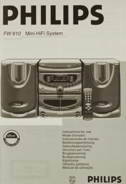Philips FW 610 Bedienungsanleitung