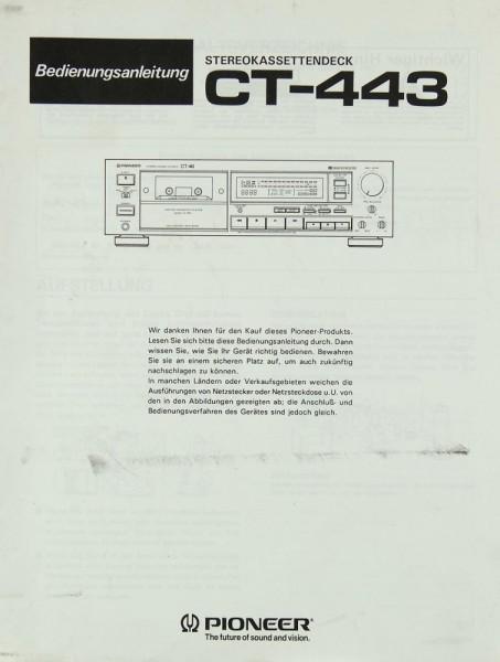 Pioneer CT-443 Bedienungsanleitung