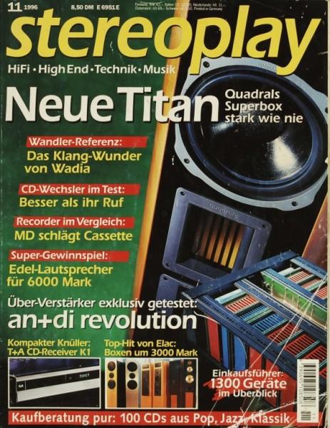 Stereoplay 11/1996 Zeitschrift