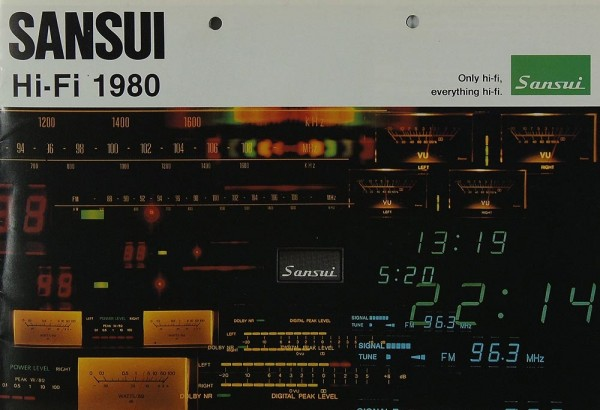 Sansui Sansui Hifi 1980 Prospekt / Katalog