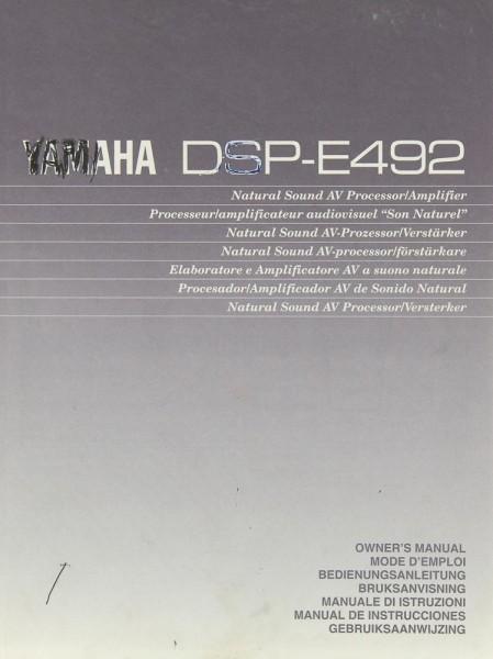 Yamaha DSP-E 492 Bedienungsanleitung