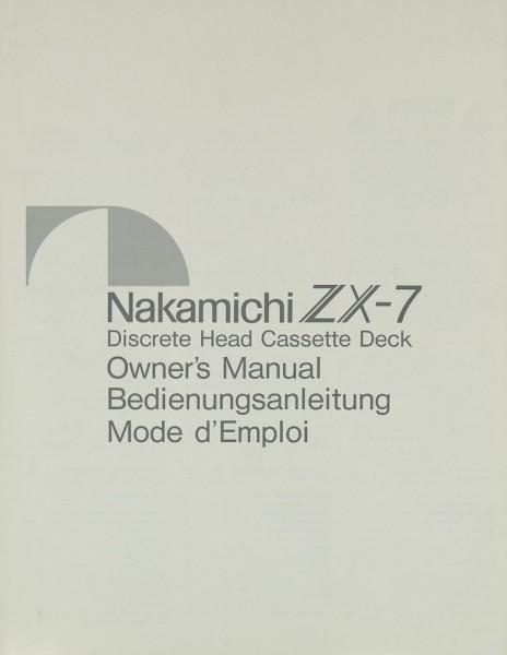 Nakamichi ZX-7 Bedienungsanleitung