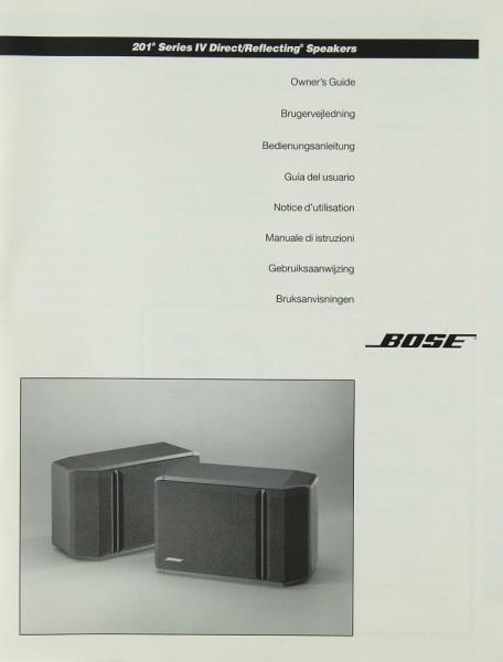 Bose 201 Series IV Bedienungsanleitung