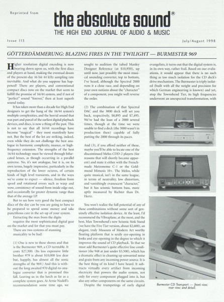 Burmester 969 Prospekt / Katalog