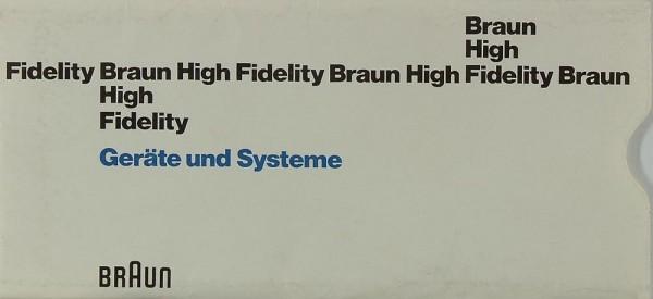 Braun High Fidelity - Geräte und Systeme Prospekt / Katalog