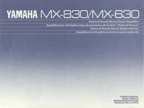 Yamaha MX-830 / MX-630 Bedienungsanleitung