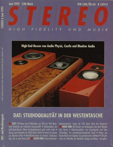 Stereo 6/1992 Zeitschrift