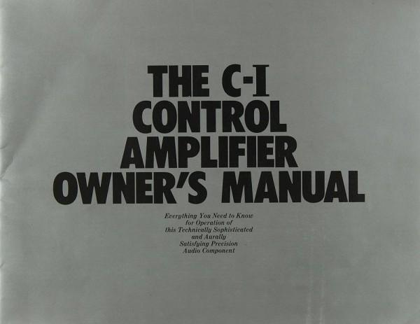 Yamaha C-1 Bedienungsanleitung