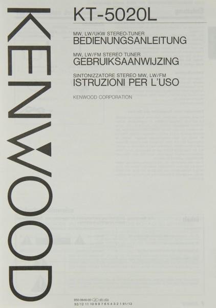 Kenwood KT-5020 L Bedienungsanleitung