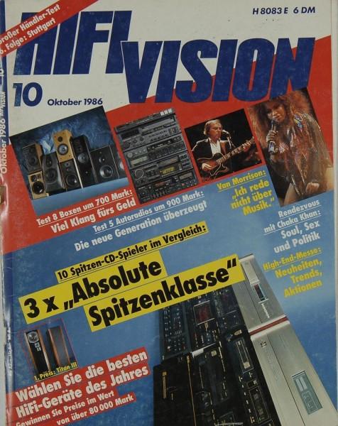 Hifi Vision 10/1986 Zeitschrift