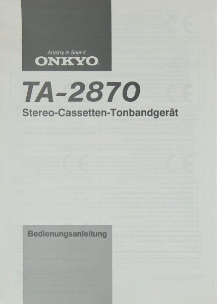 Onkyo TA-2870 Bedienungsanleitung