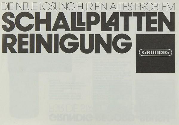 Grundig Record Brush / Record Film Prospekt / Katalog