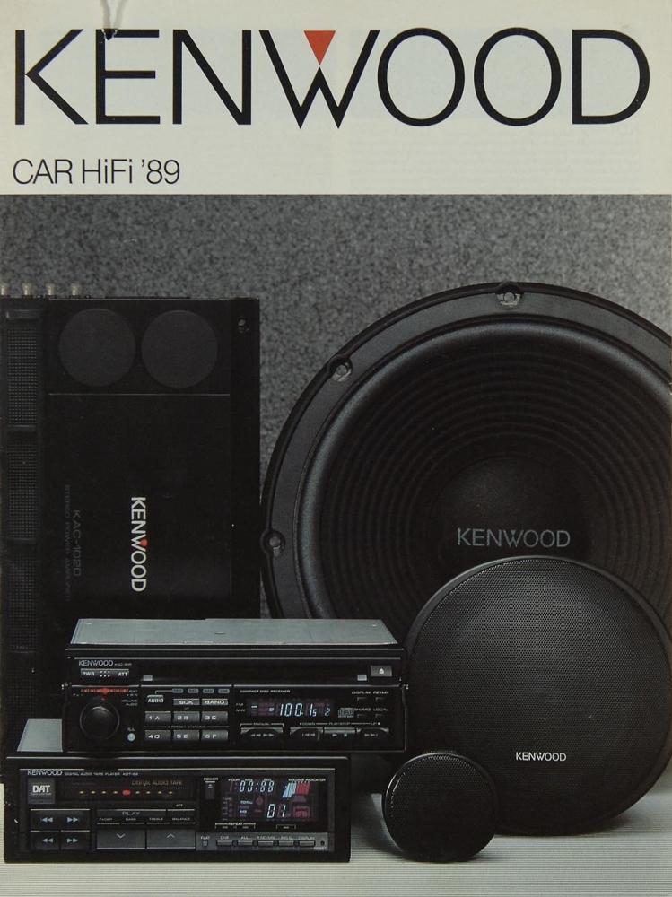 kenwood car hifi 1989 brochure catalogue diverses. Black Bedroom Furniture Sets. Home Design Ideas