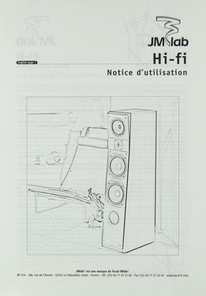 JM Lab Hi-Fi - Notice d´utilisation Bedienungsanleitung