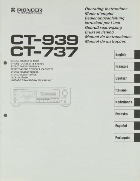 Pioneer CT-939 / CT-737 Bedienungsanleitung